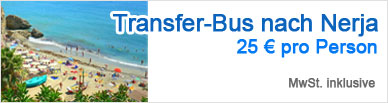 Transfer-Bus nach Nerja | 25 € pro Person