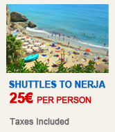 Shuttles to Nerja for only 25 € per person!